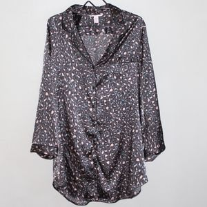 Victoria's Secret Leopard Button Front Sleepshirt
